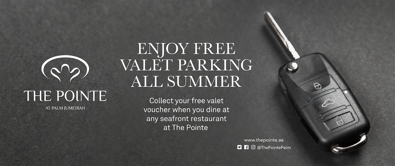 Enjoy Free Valet Parking All Summer at The Pointe