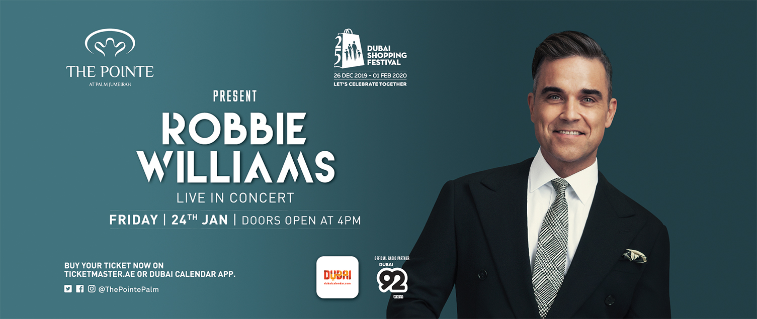 Let Robbie Williams entertain you with live concert at The Pointe