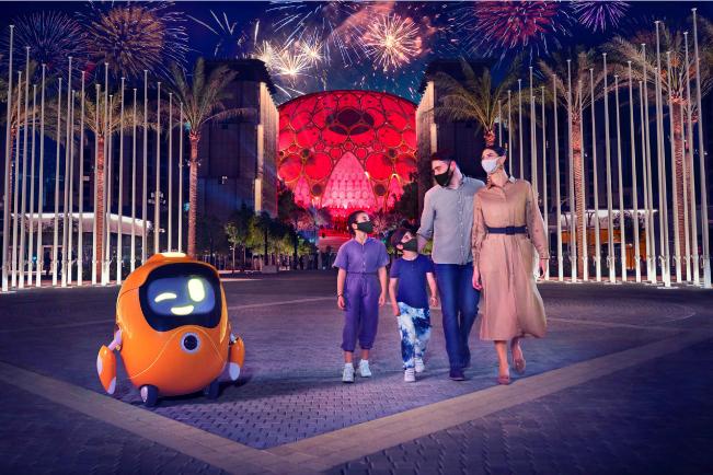 family visiting dubai 2020 expo